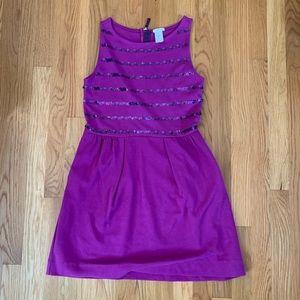 Crewcuts Girls Purple Sequin Stripe Dress